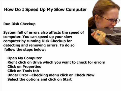how do I speed up my slow computer
