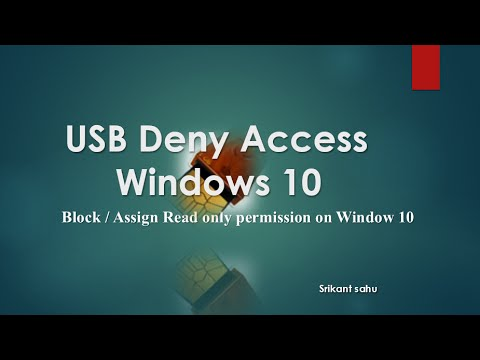 Deny USB Access on Windows 10 (How To Block , Assign Read Only Permission Removal Disks  )