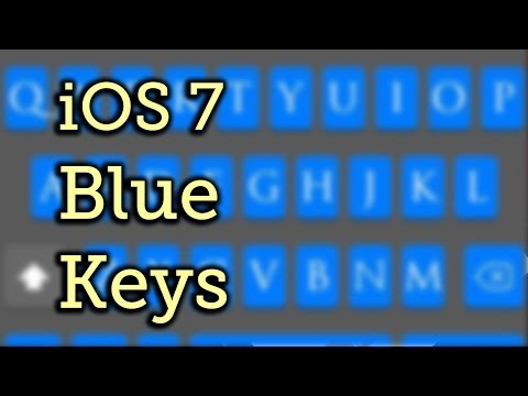 Theme Your Keyboard Blue in iOS 7 - iPad, iPhone [How-To]
