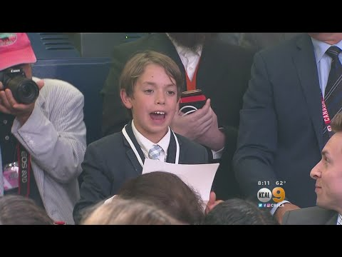 Press Sec. Sarah Huckabee Sanders Appears To Hold Back Tears When CA Student Asks About School Shoot