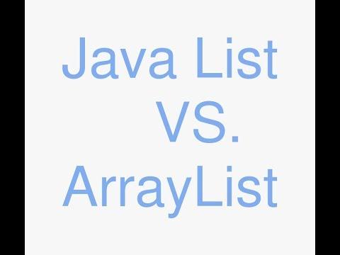 Java list vs arraylist