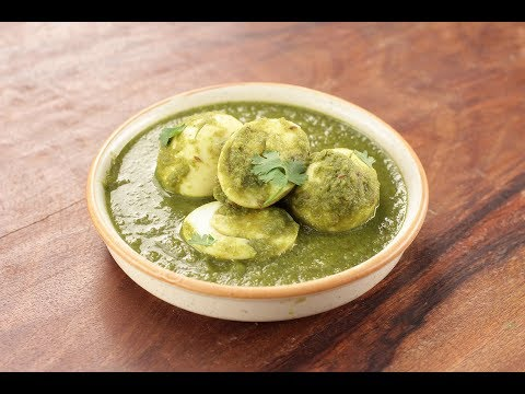 Green Masala Egg Curry | Sanjeev Kapoor Khazana