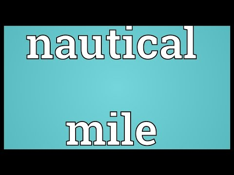Nautical mile Meaning