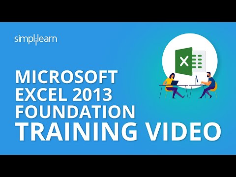 Microsoft Excel 2013 Foundation Training Video | MOS Foundation Excel 2013 Tutorials