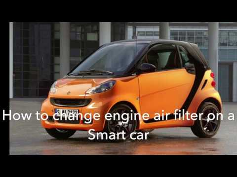 Engine air filter replacement on a smart car