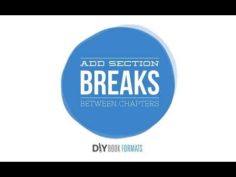 How to add section breaks between chapters in Microsoft Word (book formatting #5)