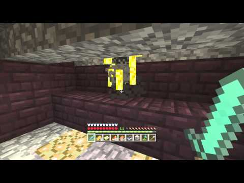 Minecraft Xbox 360: Blaze farm One Hit With Sword With Pac!