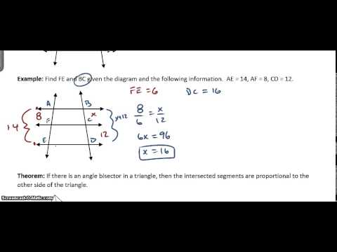 Parallel Lines and Bisectors Similarity Video