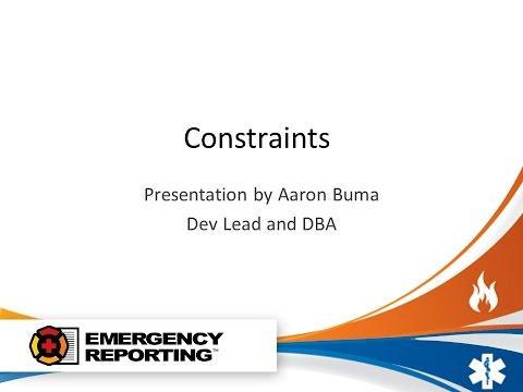 SQL Server - Constraints