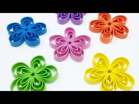 How To Make Quilled Inspired Flowers With Foam Strips - DIY Crafts Tutorial - Guidecentral