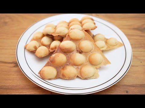 Bubble Waffle 雞蛋仔 with Red Bean