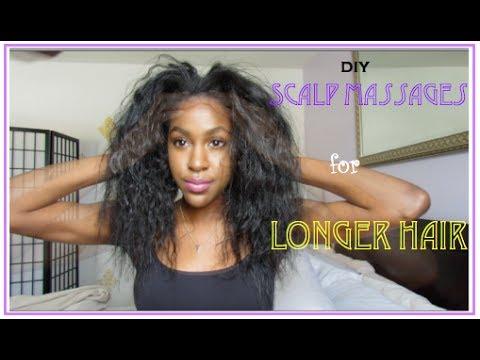 NATURAL HAIR| How to Grow LONG Hair: Scalp Massage w| Camellia Oil