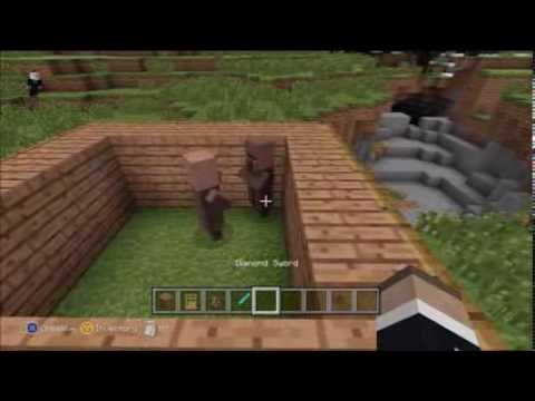 Minecraft Tutorial How To Make A Baby Villager (Xbox 360) With Commentary