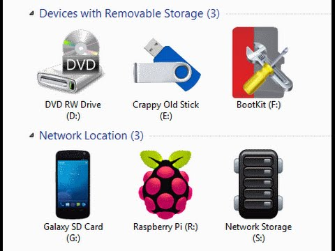 Change Windows Network Icons & USB Drive Icons