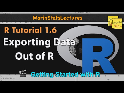 How to Export Data out of R (into .csv , .txt. and other formats) (R Tutorial 1.5b)