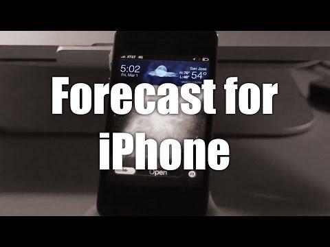 Forecast for iPhone (Best Lockscreen Tweaks 2013)