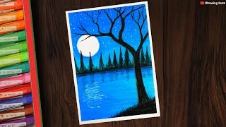 Easy Night Pond Scenery Drawing Videos 9tube Tv