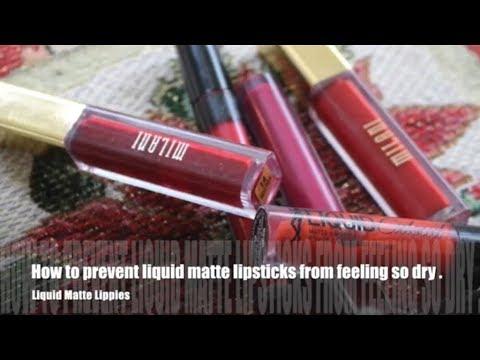 How to prevent liquid matte lipsticks from feeling so dry. | NeeCJae
