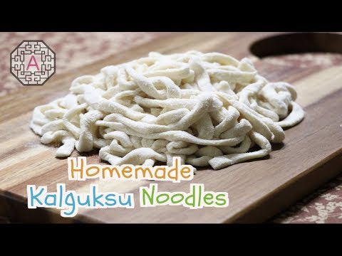 【Korean Food】 Homemade Kalguksu Noodles (칼국수 면)