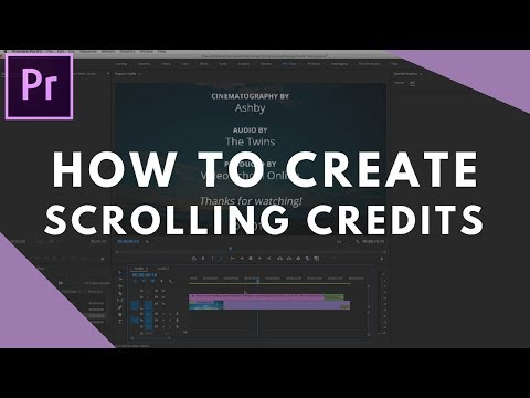 How to Create Scrolling Credits in Premiere Pro CC