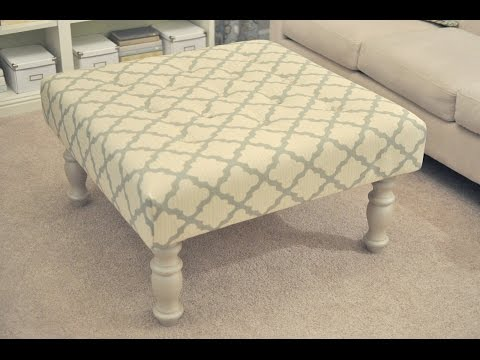 Handsome Fabric Ottoman Coffee Table Design Ideas