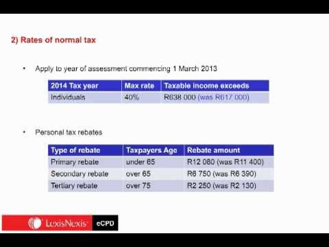Review of Budget 2013 Tax Rates