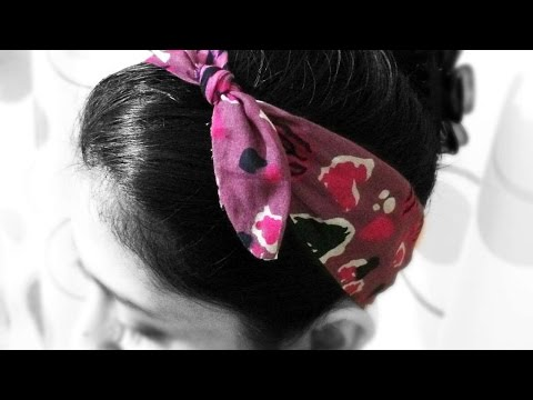 How To Make A Knotted Fabric Hair Band - DIY Style Tutorial - Guidecentral