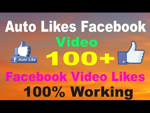How to Auto Liker Facebook Video 100%  Working Mathed
