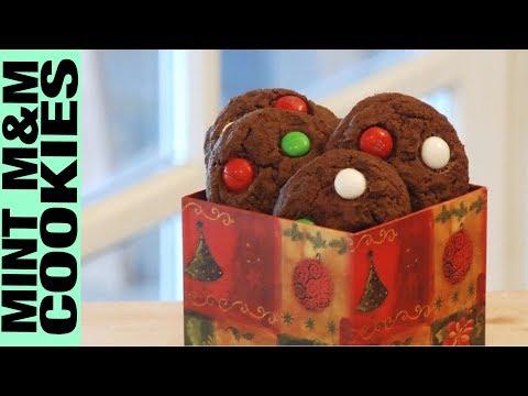 Gluten Free Mint M&Ms Chocolate Cookies Recipe Tutorial Christmas Cookies Gluten Free Habit