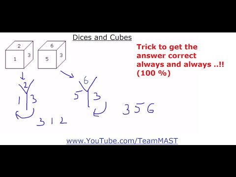 Dices and Cubes Verbal and Non-verbal Reasoning problems   Team MAST