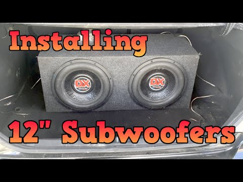 02 Honda Civic - Installing 12 inch Subwoofers