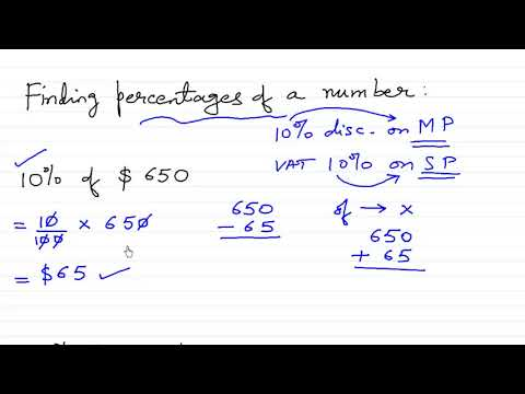 Finding percentage of a number