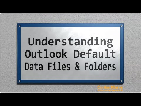 All about Outlook default files and folders