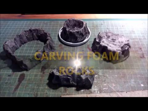 Carving Foam Rocks