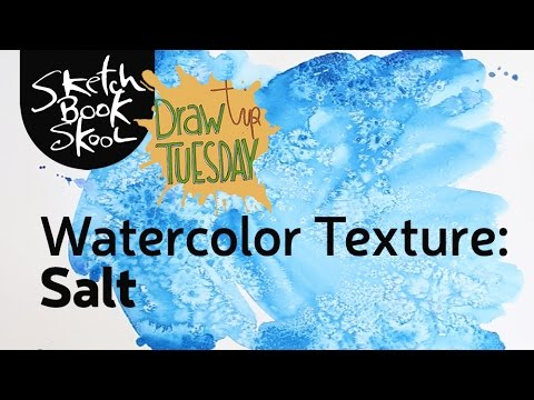 Making a watercolor texture using salt