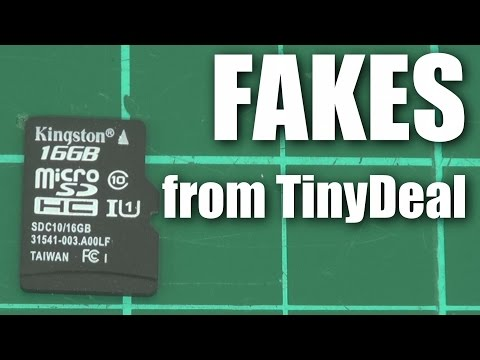 Fake Kingston ExtremeX microSD cards from TinyDeal?