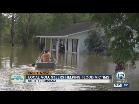 Local volunteers helping flood victims