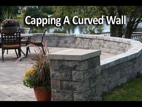 How to Cap a Curved Patio Wall