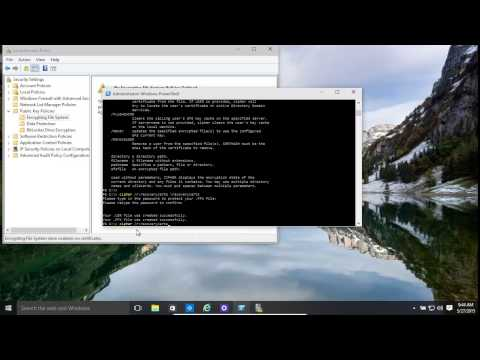 Windows 10 and 8.1 Encrypted File Recovery Agent