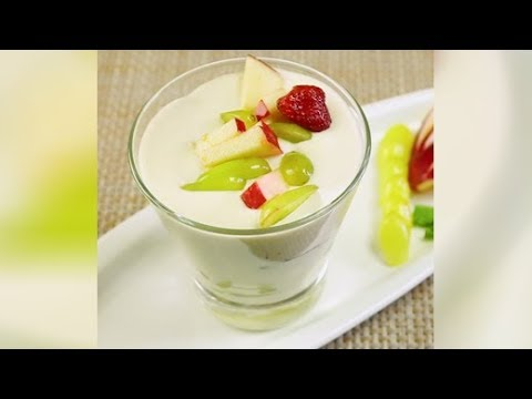 How To Make Natural Fruit Custard at Home |  Easy Mixed Fruit Recipe