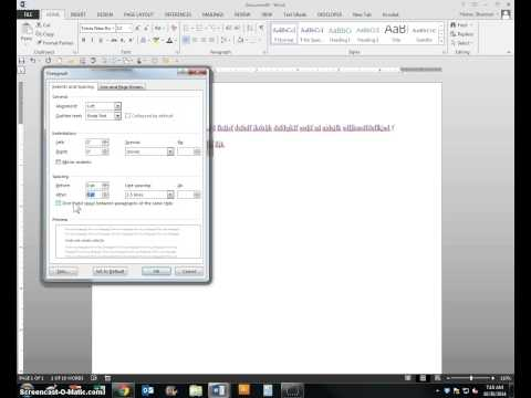 Changing your default settings in Microsoft Word 2013