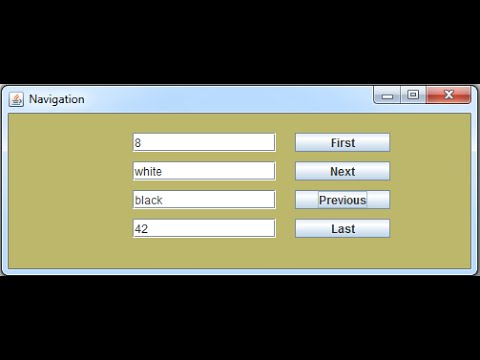 JAVA - MySQL Database Rocords Navigation Buttons [ With Source Code ]
