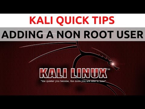 Kali Linux Quickie - #1 - Adding a non-root user