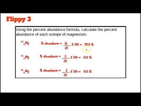Calculating Percent Abundance and Average Atomic Mass