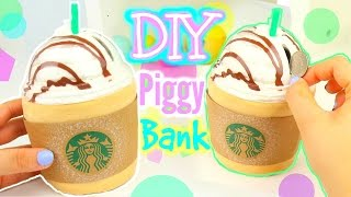 Download DIY Starbucks Piggy Bank! Make Your Own Piggy bank! Video