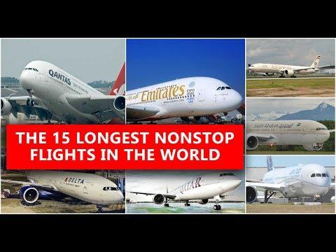 Top 15 Longest Flights in the World 2017-18