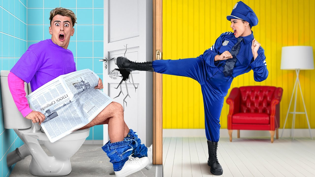POLICE OFFICER FOR 24 HOURS    OMG My Best Friend IS A COP! Funny Situations by 123 GO! CHALLENGE