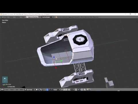 Blender For Noobs - Spaceship tutorial - Part 10 of 12