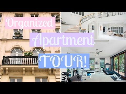 MY ORGANIZED APARTMENT TOUR!   Study With Jess