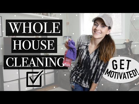 CLEAN WITH ME! WHOLE HOUSE CLEAN! || MOTIVATIONAL CLEANING!